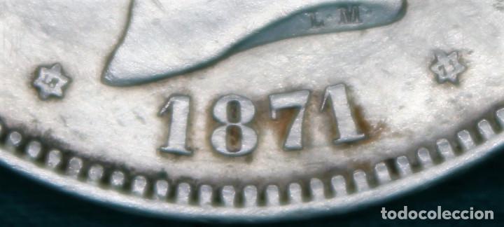 Monedas de España: España Amadeo I 5 pesetas, 1871 18 y 71 dentro de la estrella MBC plata r 3147 - Foto 2 - 162931466