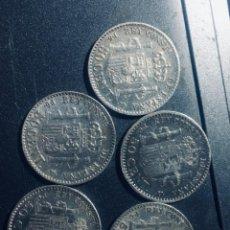 Monedas de España: LOTE DE 5 MONEDAS DE PLATA 50 CTMS DE ALFONSO XIII EN EBC 1892 Y 1904 EN EBC. Lote 162950534
