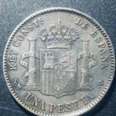 Monedas de España: PLATA 1 PESETA DE 1903 EN EBC PRECIOSA DE ALFONSO XIII. Lote 162952442
