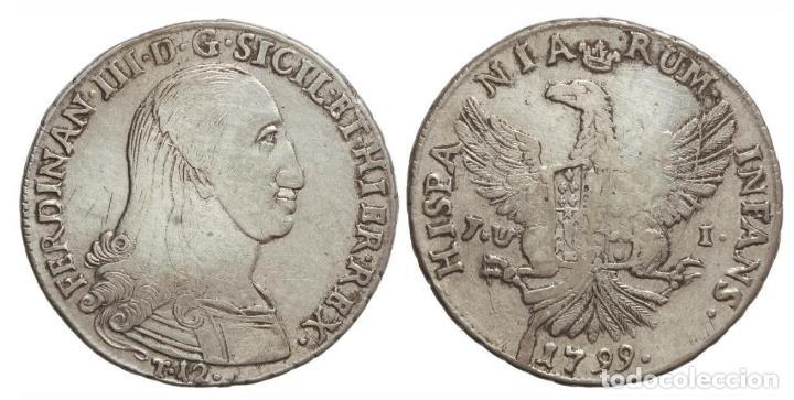 12 TARI FERNANDO III DE DOS SICILIAS 1799 PALERMO J.V.I. (Numismática - España Modernas y Contemporáneas - De Reyes Católicos (1.474) a Fernando VII (1.833))