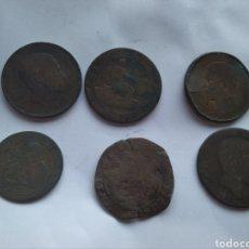 Monete da Spagna: 6 MONEDAS DE COBRE MUY ANTIGUAS. Lote 163363765