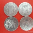 Monedas de España: LOTE DE 4 MONEDAS 2 PESETAS PLATA LA DE LAS FOTOS AÑOS 1869.1884.1881.1882. Lote 163519938