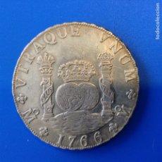 Monedas de España: CARLOS III 8 REALES PLATA 1766 MEXICO FM COLUMNARIO. Lote 163555594