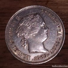 Monedas de España: ISABEL II : 1 REAL 1860 SEVILLA (PLATA). Lote 145225846