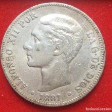 Monete da Spagna: ALFONSO XII. MADRID. 5 PESETAS. 1881*18-81 MSM EBC-. Lote 163694450