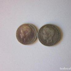 Monedas de España: 2 MONEDAS DE 50 CÉNTIMOS. ALFONSO XIII. 1896 (ESCASA) Y 1900. PLATA.. Lote 163813154