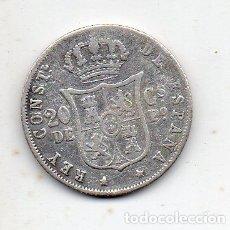 Monedas de España: ALFONSO XII. 20 CENTAVOS, MANILA. AÑO 1883. PLATA.. Lote 164056118