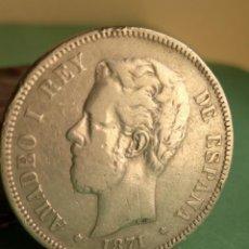 Monedas de España: MONEDA 5 PESETAS PLATA AMADEO I 1871 ESTRELLAS 18 - 71 REF. 152. Lote 164204834