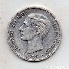 Monedas de España: ALFONSO XII. 5 PESETAS. AÑO 1879. EM - M. PLATA.. Lote 164751306