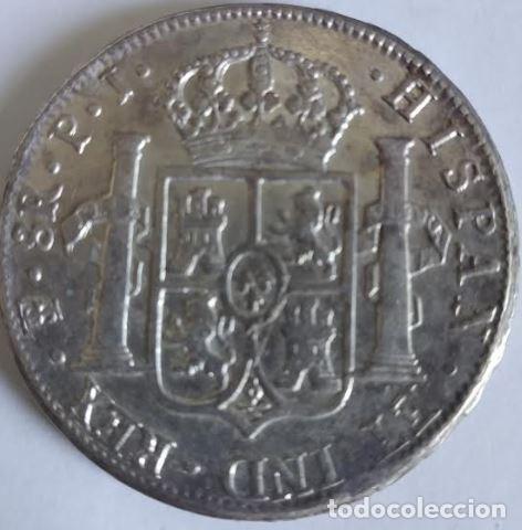 Monedas de España: Fernando VII 1818 / 8 reales Potosi - Foto 2 - 164888330