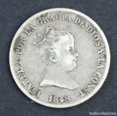 Monedas de España: MONEDA EN PLATA 1 REAL ISABEL II-1848 MADRID. Lote 165097026