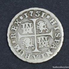 Monedas de España: MONEDA EN PLATA 1/2 REAL FERNANDO VI-1751 SEVILLA. Lote 165101886