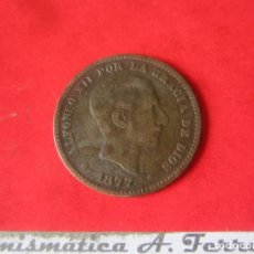 Monedas de España: ALFONSO XII. 5 CENTIMOS. 1877. Lote 165213650