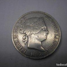 Monedas de España: 20 REALES DE PLATA DE 1857. CECA DE MADRID. REINA ISABEL II. Lote 165315446