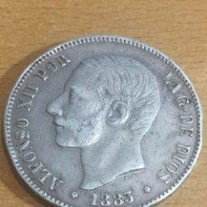 Monedas de España: 5 PESETAS ALFONSO XII 1883 ESTRELLA PLATA 25 GRAMOS. Lote 165537413