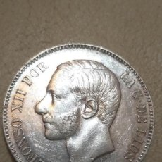 Monedas de España: MONEDA DE 5 PESETAS. ALFONSO XII - 1883. M.S.M. ESTRELLA 83 - PLATA BRILLO. Lote 165865058