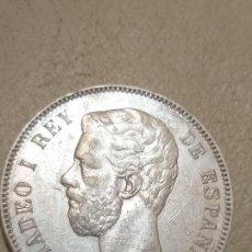 Monedas de España: AMADEO I - 5 PESETAS PLATA 1871 * 71 DE MADRID SDM - CONSERVACIÓN EBC-. Lote 165868830