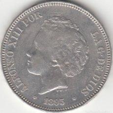 Monedas de España: ALFONSO XIII: 5 PESETAS 1893 ESTRELLAS 18-93 PGV / PLATA. Lote 165941514