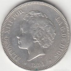 Monedas de España: ALFONSO XIII: 5 PESETAS 1894 ESTRELLAS 18-94 PGV / PLATA . Lote 165942406