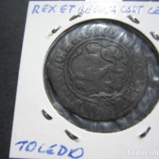 Monedas de España: MONEDA DE 4 MARAVEDIS DE LOS REYES CATOLICOS (TOLEDO) MUY BONITO CON PATINA NEGRA. Lote 166044086