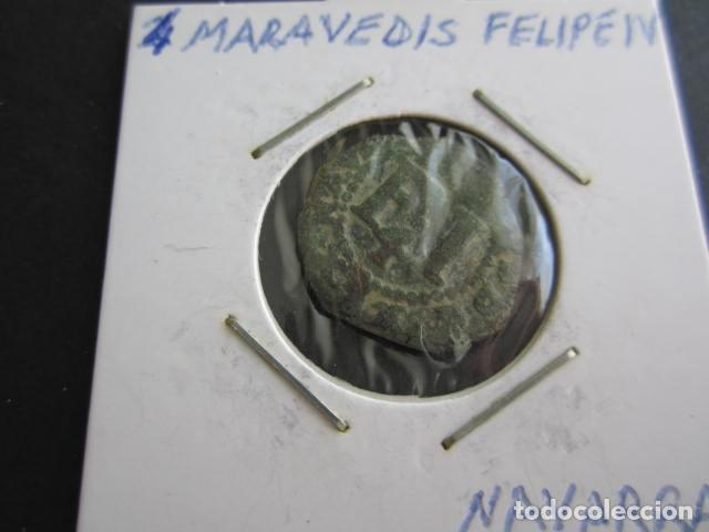 MONEDA DE 4 CORNADOS DE FELIPE IV DE NAVARRA BONITO (Numismática - España Modernas y Contemporáneas - De Reyes Católicos (1.474) a Fernando VII (1.833))