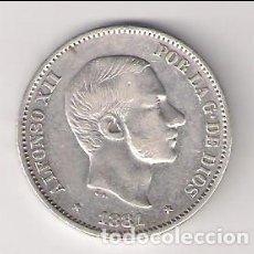 Monedas de España: MONEDA DE 50 CENTAVOS DE PESO DE ALFONSO XII DE 1881 CECA MANILA (FILIPINAS). PLATA. MBC. (AL21). Lote 166178650