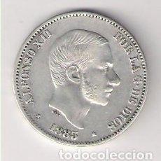 Monedas de España: MONEDA DE 50 CENTAVOS DE PESO DE ALFONSO XII DE 1885 CECA MANILA (FILIPINAS). PLATA. MBC. (AL26). Lote 166179694