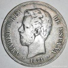 Monedas de España: 5 PESETAS AMADEO I 1871. ESTRELLAS 18-71.. Lote 166264566
