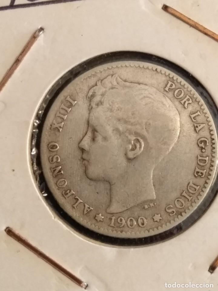 Monedas de España: Moneda de 1 peseta de Alfonso XIII en plata de 1900 - Foto 2 - 166266266