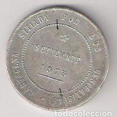 Monedas de España: MONEDA DE 5 PESETAS (DURO) DE CARTAGENA (REVOLUCIÓN CANTONAL) DE 1873. PLATA. MBC. (RECA1). Lote 166286266
