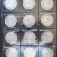 Monedas de España - 12 MONEDAS 5 PESETAS DE 1870 a 1898 GOBIERNO PROVISIONAL- AMADEO I-ALFONSO XII-XIII - 166308158