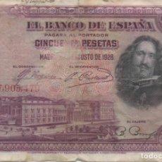 Monedas de España: BILLETE DE 50 PESETAS DE 1928. Lote 166314946