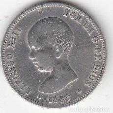 Moedas de Espanha: ALFONSO XIII: 2 PESETAS 1889 * 18--- / PLATA. Lote 166927492