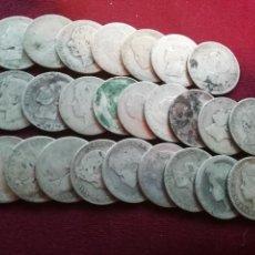 Monedas de España: PESETA DE PLATA. LOTE DE 25 PESETAS DE PLATA. Lote 167133796
