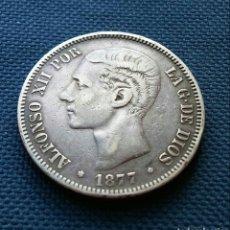 Monedas de España: 5 PESETAS 1877. Lote 167190314