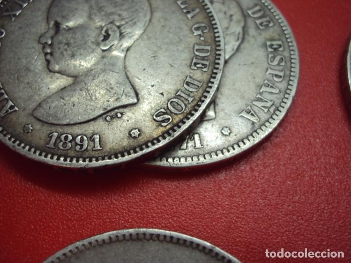 Monedas de España: LOTE 12 MONEDAS PLATA 5 PESETAS ALFONSO XII XIII PROVISIONAL ETC... - Foto 2 - 167913728