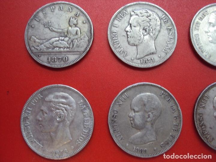 Monedas de España: LOTE 12 MONEDAS PLATA 5 PESETAS ALFONSO XII XIII PROVISIONAL ETC... - Foto 3 - 167913728