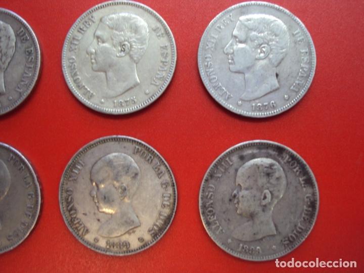 Monedas de España: LOTE 12 MONEDAS PLATA 5 PESETAS ALFONSO XII XIII PROVISIONAL ETC... - Foto 4 - 167913728