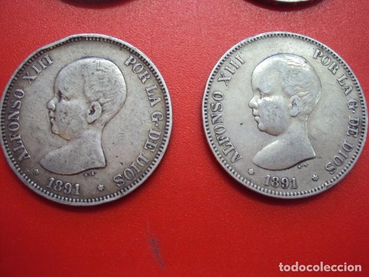 Monedas de España: LOTE 12 MONEDAS PLATA 5 PESETAS ALFONSO XII XIII PROVISIONAL ETC... - Foto 5 - 167913728