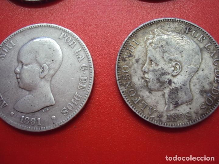 Monedas de España: LOTE 12 MONEDAS PLATA 5 PESETAS ALFONSO XII XIII PROVISIONAL ETC... - Foto 6 - 167913728