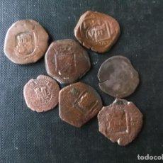 Monedas de España: CONJUNTO DE 7 MARAVEDIS RESELLADOS CASTELLANOS FELIPE V. Lote 168021064
