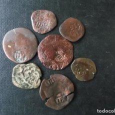Monedas de España: CONJUNTO DE 7 MARAVEDIS RESELLADOS FELIPE V. Lote 168021320