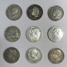 Monedas de España - 12 MONEDAS DE 5 PESETAS DE PLATA GOBIERNO PROVISIONAL, AMADEO I, ALFONSO XII, ALFONSO XIII LOTE 1640 - 168028300