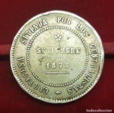Monedas de España: ESPAÑA 5 PESETAS - REVOLUCIÓN CANTONAL 1873 CARTAGENA KM 716 COINCIDENTE PLATA. Lote 168268428