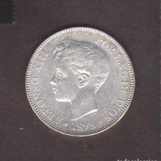 Monedas de España: MONEDAS - ALFONSO XIII - 5 PESETAS 1898/18-98 (EBC). Lote 168338304
