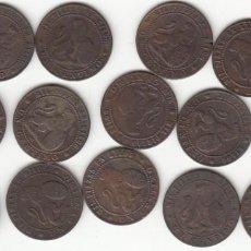 Monedas de España: I REPUBLICA: 1 CENTIMO 1870 / LOTE DE 16 MONEDAS. Lote 168343312