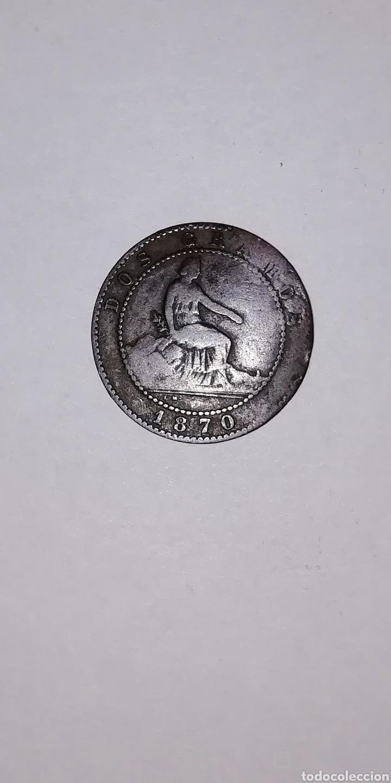 MONEDA DE 2 CÉNTIMOS AÑO 1870. (Numismática - España Modernas y Contemporáneas - De Isabel II (1.834) a Alfonso XIII (1.931))