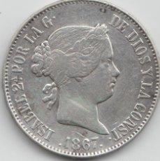 Monedas de España: ISABEL II 1867 - 1 ESCUDO - MBC. Lote 169120024