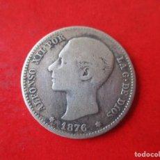 Monedas de España: ALFONSO XII. 1 PESETA DE PLATA 1876. Lote 169169976