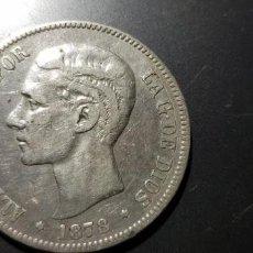 Monedas de España: 5 PESETAS ALFONSO XII PLATA 1876 DEM. Lote 169227116